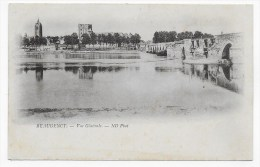 (RECTO / VERSO) BEAUGENCY - VUE GENERALE AVEC PONT - CPA - Beaugency