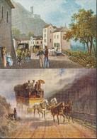 Schweiz - Ansichtskarten   12 Stück  Postkutschen - Schweiz
