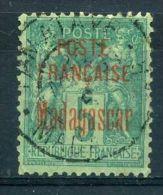 MADAGASCAR  :  Y&T  N°  14   TIMBRE  AVEC  TRES  BELLE  OBLITERATION , A  VOIR . - Madagascar (1889-1960)