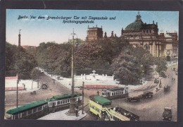 Old Card ? Of Vor Dem Brandenburger Tor Mit Siegessaule Und Reichstagsgebaude,Berlin,Germany,J6 - Germany