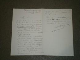 VERVIERS - Lettre Autographe D'Albert DUPUIS, Directeur Du Conservatoire, Datée Du 9/1/1903. - Music & Instruments