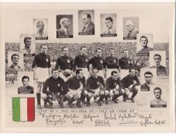 """AS.CALC.""""GRANDE TORINO""""CAMPIONI D'ITALIA VECCHIA PHOTO RIPRESA DA 0RIGINALE 24,5X18 SCUDETTO DIPINTO A MANO 2-0882-2411 - Football"""