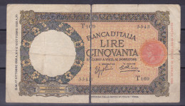 ITALY - 50 Lire 27.10.1936 - 50 Lire