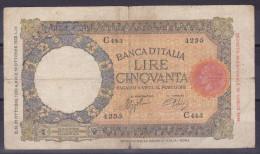 ITALY - 50 Lire  21.10.1938 - 50 Lire