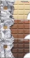 Swisscom taxcards: 22. Chip-Serie. Schweizer Schokolade