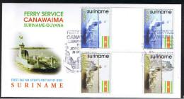 Surinam / Suriname 1998 FDC 215 BP veerboot ferry fahrdampfer bac to guyana gutterpair