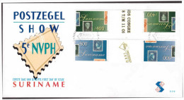 Surinam / Suriname 1998 FDC 219 BP NVPH-show stamp on stamp timbre sur timbre gutterpair