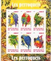 Birds / Parrots - Burundi  - 2009 - M/S Of 6 MNH** - Private / Local Issue  - Imperforato - Papegaaien, Parkieten
