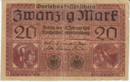 Germany #57, 5 Marks Banknote Money Currency, 20 February 1918 Date - [ 2] 1871-1918 : Duitse Rijk