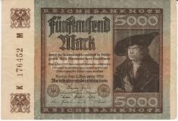 Germany #81a, 5000 Marks Banknote Money Currency, 2 December 1922 Date - [ 3] 1918-1933: Weimarrepubliek