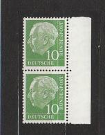BRD **  183y Paar Mit Rand  Heuss Lumogen Fluoreszenz Katalog  3,50 - [7] República Federal
