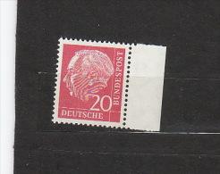 BRD **  185y   Mit Rand  Heuss Lumogen Fluoreszenz Katalog  3,00 - [7] República Federal