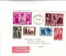 Belgio, Orval Abazia. Cover Filatelica To Chateau Salins. France. Set Completo 15 - 07 - 1939 - FDC
