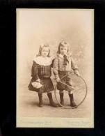 Photographie Cabinet Petite Fille & Garçon Little Girl And Boy / Photographe RIPP G FLORET 105 Boulevard Magenta PARIS - Persone Anonimi