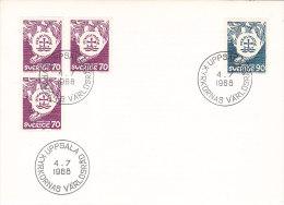 Suède - Sweden - Sverige- FDC - Uppsala 1968 - FDC