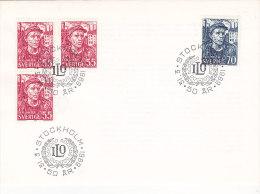 Suède - Sweden - Sverige- FDC - ILo 50 Ar 1969 - FDC