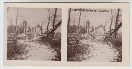 Stereoscope, Guerre 1914 -1918, Nieuwpoort, Nieuport, Ruines De La Sardinerie (pk22337) - Photos Stéréoscopiques