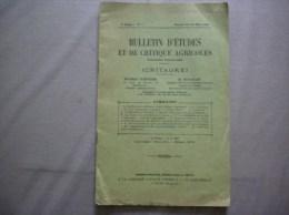 BULLETIN D´ETUDES ET DE CRITIQUE AGRICOLES N°7 JANVIER FEVRIER MARS 1932 32 PAGES - Sciences