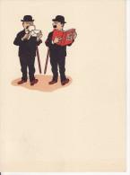 PAPIER A LETTRE-ENTETE ILLUSTRE DUPOND DUPONT Filigrane Guérimand à VOIRON (Isère)  Bande Dessinée-HERGE-RARE- - Autres