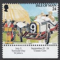Isle Of Man 1994 Tourism: Tynwald Day, Classic Cars. Mi 585 MNH - Auto's