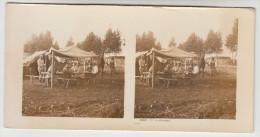 Stereoscope, Guerre 1914 -1918, Worldwar I, Un Campement (pk22344) - Photos Stéréoscopiques
