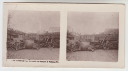 Stereoscope, Guerre 1914 -1918, Barricade Sur La Route Souain A Sommy Py (pk22345) - Photos Stéréoscopiques