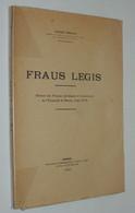 JACQUES BREJON - FRAUS LEGIS - DROIT RENNES 1941 // PORT FRANCE : GRATUIT. - Recht
