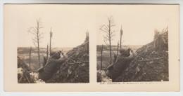 Stereoscope, Guerre 1914 -1918, Wordwar I, Observation. Un éclatement Sur La Crête En Face (pk22353) - Photos Stéréoscopiques