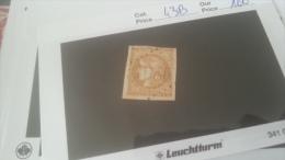 LOT 270351 TIMBRE DE FRANCE OBLITERE N�43B VALEUR 100 EUROS