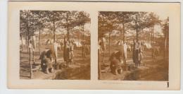 Stereoscope, Guerre 1914 -1918, Wordwar I, Coloniaux Lavant Leur Linge (pk22355) - Photos Stéréoscopiques