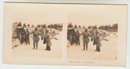 Stereoscope, Guerre 1914 -1918, Wordwar I, Au Camp Les Baraquements (pk22358) - Photos Stéréoscopiques