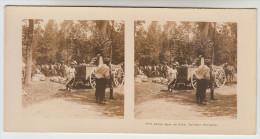 Stereoscope, Guerre 1914 -1918, Wordwar I, Halte Dans Un Bois Cuisine Roulante (pk22361) - Photos Stéréoscopiques