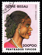 GUINEA BISSAU - Scott #874 Traditional Hairstyles / Used Stamp - Guinea-Bissau