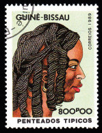 GUINEA BISSAU - Scott #876 Traditional Hairstyles / Used Stamp - Guinea-Bissau