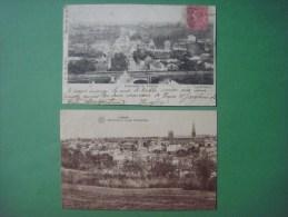 Lot De 2 Cartes De LOBBES ( Panorama Et Rue D' Anderlues // Panorama Grattière ) - Lobbes
