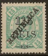 St. Thomas And Prince - 1913 KIng Carlos Overprinted REPUBLICA 115 Réis - St. Thomas & Prince
