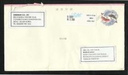 Korea  Air Mail Postal Used Cover  Seoul Korea To Pakistan Fish - Korea (...-1945)