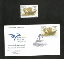 2015- Tunisia- Boats In Euromed-Compl.set MNH** & FDC ,Joint & Common Issue - Tunesië (1956-...)
