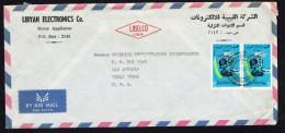 1970  Air Mail Letter To USA  Establishment Of Libyan Arab Republic 45 M X2 - Libya