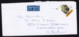 1982  ZAMBIA  Air Mail Letter To USA 32 N. Tourmaline  Sc 261 - Zambia (1965-...)