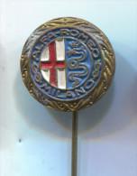 ALFA ROMEO - Car Auto, Automobile, Vintage Pin  Badge - Alfa Romeo
