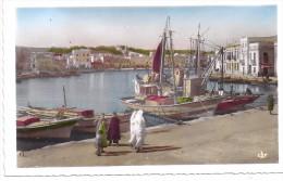 CPSM Photo Bizerte Tunisie Le Vieux Port Bateaux édit Real Photo N°94 écrite Non Timbrée Ni Datée - Tunisie