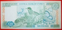 ★PLANTS AND RARE ANIMALS: CYPRUS★ 10 POUNDS 2005 UNC CRISP! LOW START ★ NO RESERVE! - Chypre