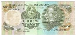 URUGUAY 1987 - 100 Nuovo Pesos Pick 62a -  Banconota In Condizioni FDS - Uruguay