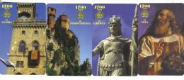 SAN MARINO 1700 Anni Di Storia  2000+3000+5000+10000 Lire Nuove Cod.schede.039 - San Marino