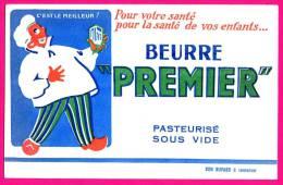 """Buvard - Publicité Beurre """" PREMIER """" Pasteurisé Sous Vide - Bon Buvard à Conserver - Alimentare"""