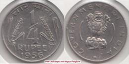 India ¼ Rupee 1956 (small Arms) Km#5.3 - Used - India
