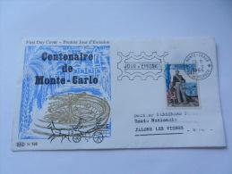 CENTENAIRE DE MONACO  1966 PUBLICITE ARGININE VEYRON - FDC