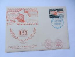 PALAIS DE L UNESCO 1958 2 CP - 1950-1959