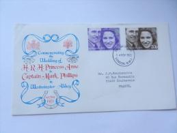 WEDDING  PRINCESS ANN MARK PHILLIPS 1973 - 1971-1980 Em. Décimales